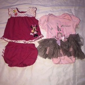 Disney 3-6M outfits